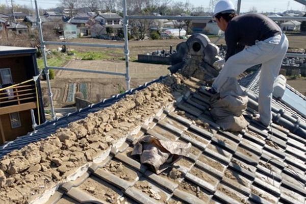 棟瓦取り直し工事