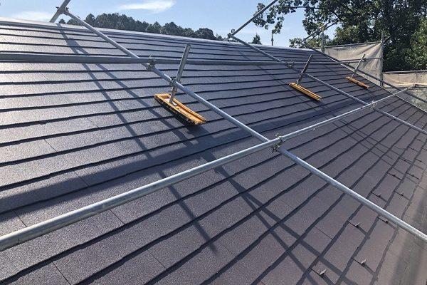 千葉県市原市 屋根塗装 屋根の傾斜がきつい場合 タスペーサー・縁切りとは (1)