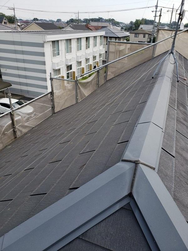 千葉県銚子市 屋根カバー工法(重ね葺き)工事 現場調査 屋根葺き替え工事との違い