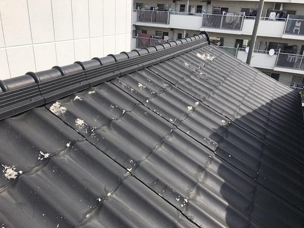 千葉県市原市 屋根葺き替え工事 屋根・外壁0円診断 アスベスト セキスイU瓦 (1)