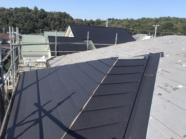 千葉県市原市 屋根カバー工法 ガルバリウム鋼板 (7)