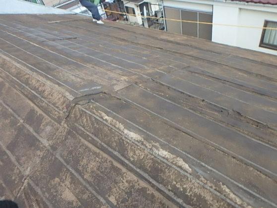 千葉県市原市 屋根葺き替え工事 野地板・ルーフィングの交換 瓦屋根からガルバリウム鋼板へ2