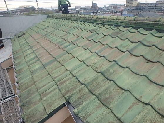 千葉県市原市 屋根葺き替え工事 野地板・ルーフィングの交換 瓦屋根からガルバリウム鋼板へ1