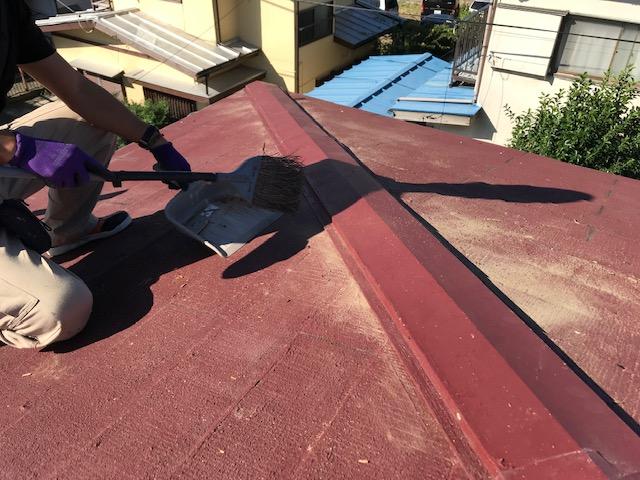 千葉県木更津市 屋根板金工事 化粧スレート屋根 棟板金の修理 (4)