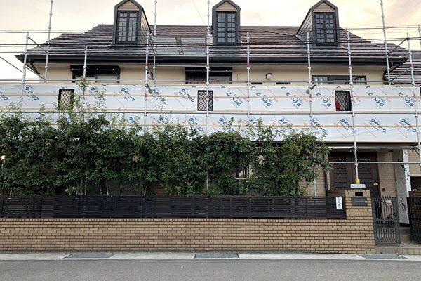 千葉県市原市 サイディングカバー工法 下地施工 タイペック ハウスラップ